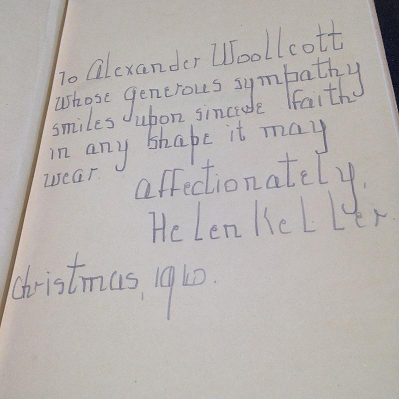 helen keller handwriting