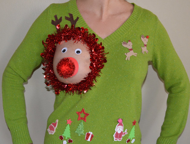 ugly breastfeeding christmas sweater