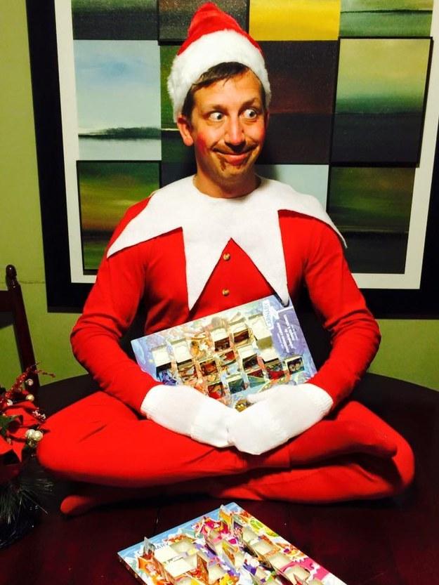 human elf on the shelf