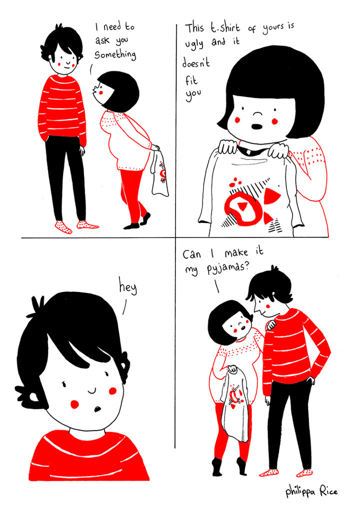 love is in the small things cartoons