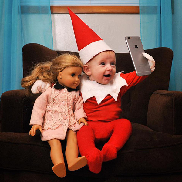 This Dad Creates 'Real' Elf On The Shelf Photos With His 4
