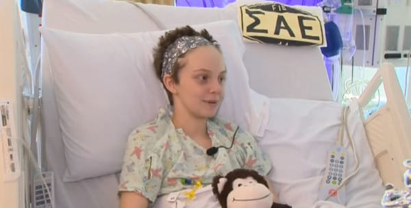 frat house makes girl with cancer happy