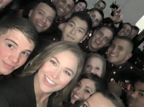 Ronda Rousey attends marine corps ball