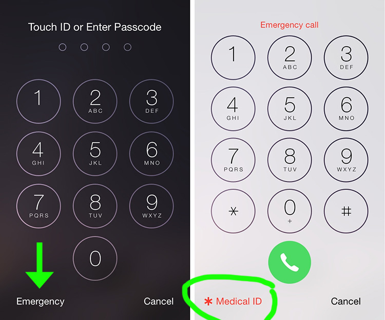 iphone medical id tip