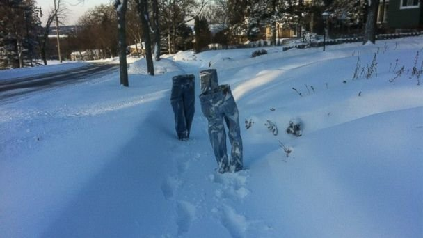 frozen pants Minnesota