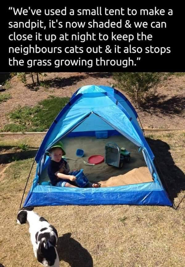 kids sandpit tips tent