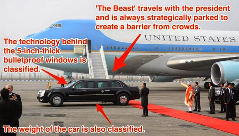 president obama car armored facts
