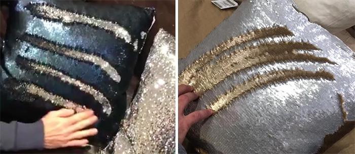 mermaid pillows change when you swipe