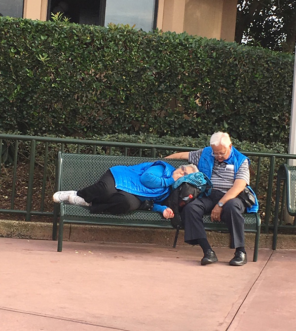 older couple at Disney world