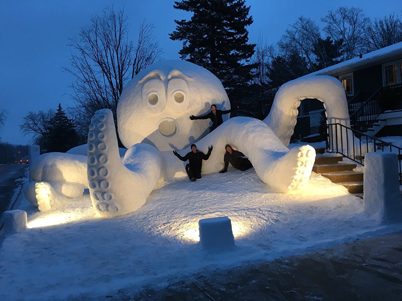 giant snow sculptures