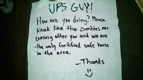 funny delivery notes