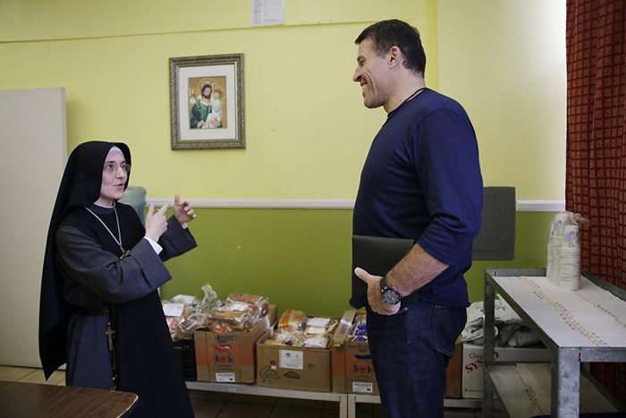 tony robbins saves nuns soup kitchen