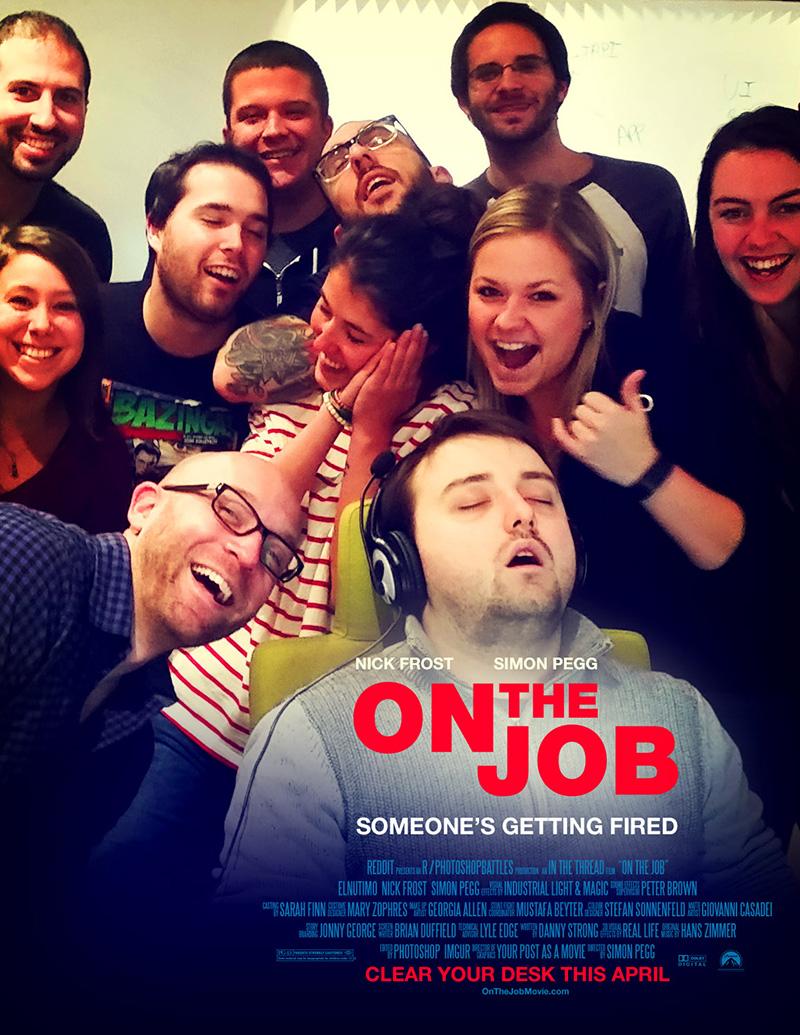 guy falls asleep at work photoshop battle