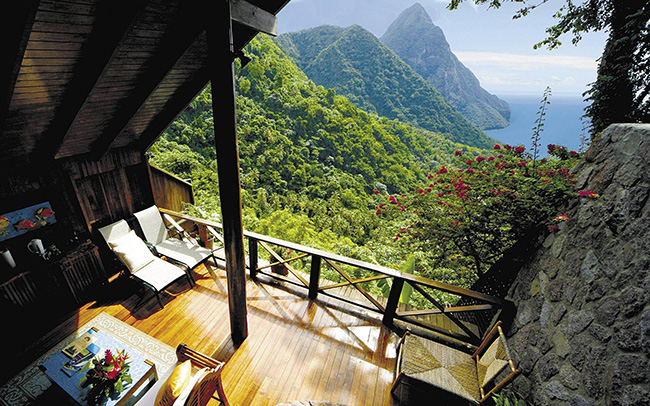 amazing balcony view mountains