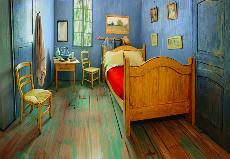 guy recreates van gogh bedroom