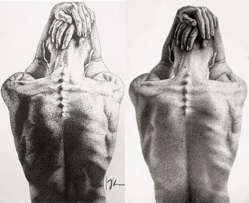 amazing art using pen dots