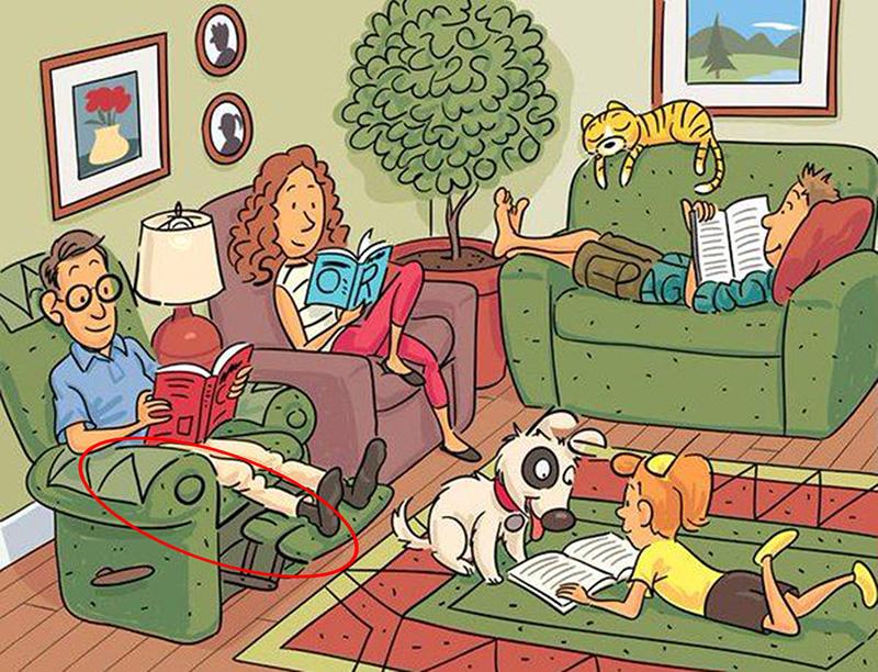 find six hidden words in cartoon