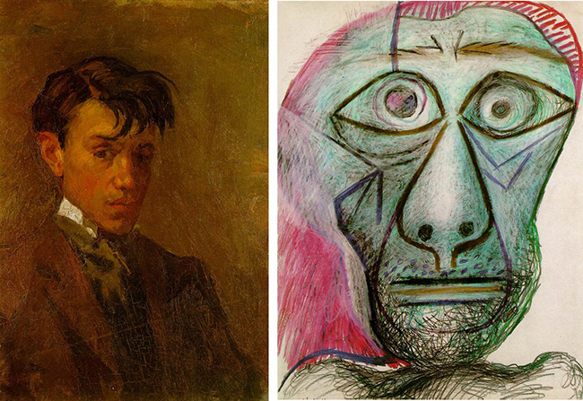 picasso self portrait 16 vs 72