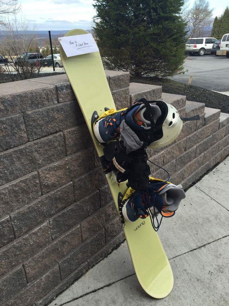 snowboard free to a good home letter