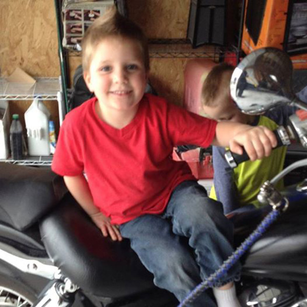 bikers attend funeral for young boy
