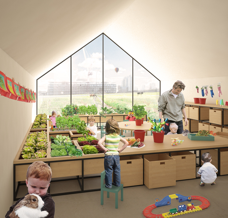 nursery school and nature farming mixed