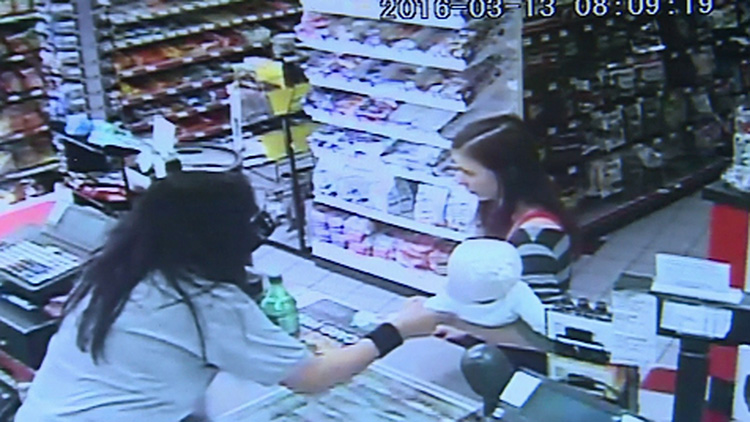 cashier saves baby