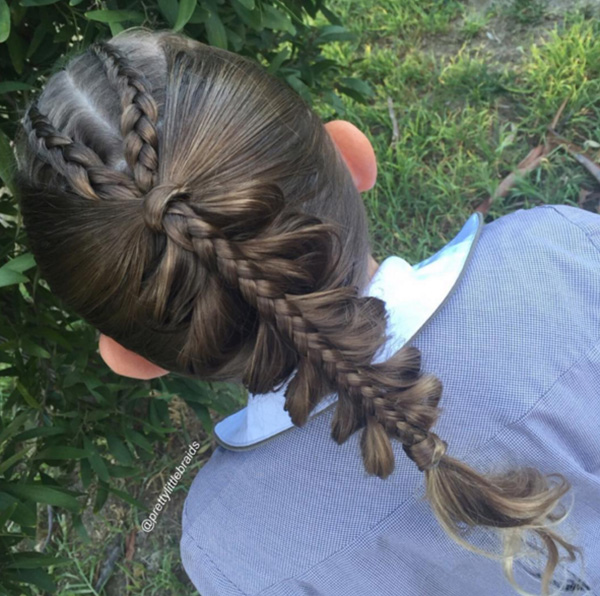 mom does gorgeous braids for daughter every day