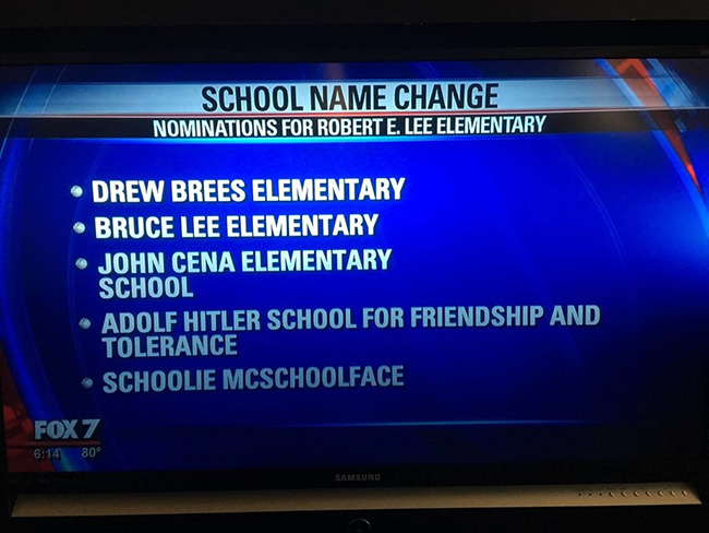 school name suggestions funny