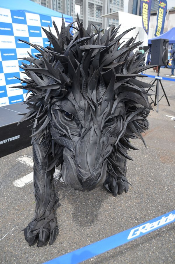 amazing tire sculptures