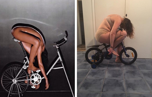 woman recreates instagram photos celeste barber