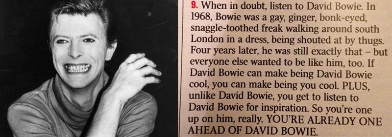 david bowie motivation