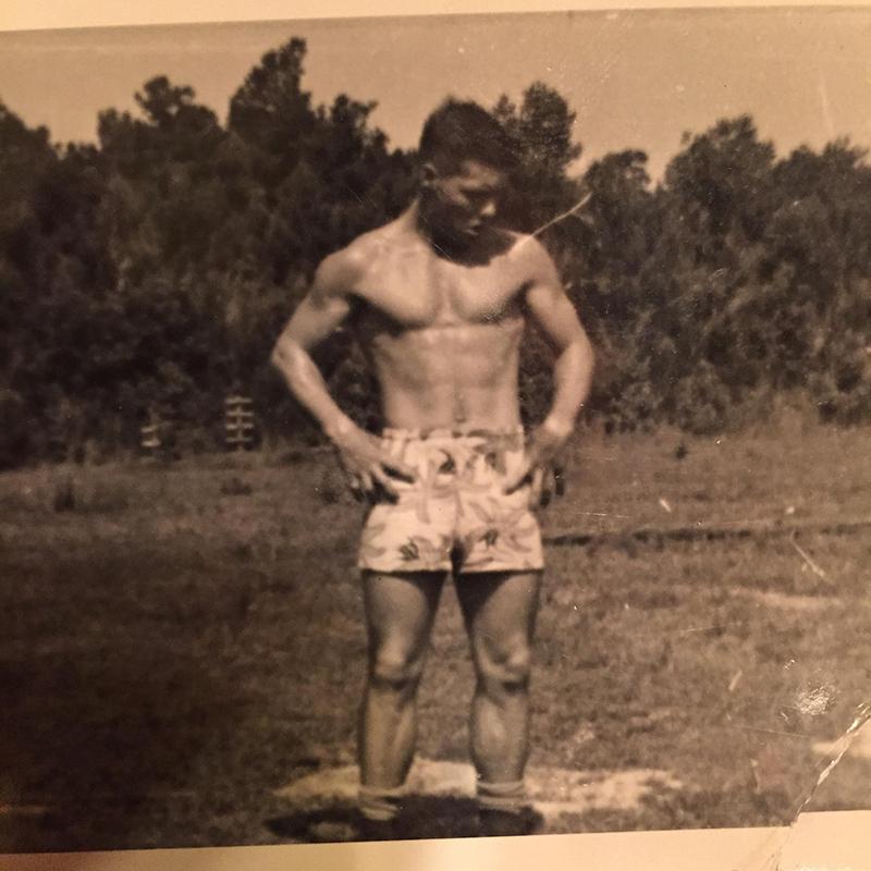 grandma sends grandson ripped picture of grandpa at his age
