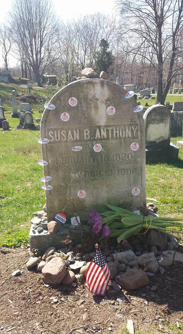 susan b anthony grave I voted stickers