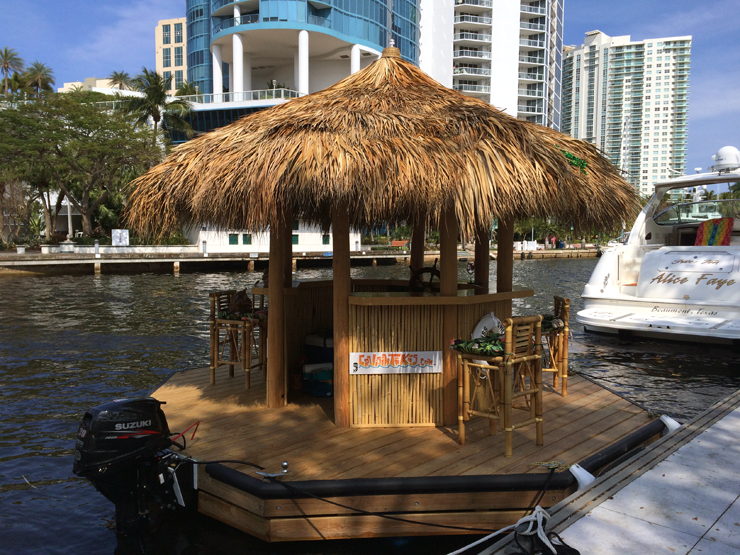 This Dude In Florida Built A Tiki Bar Boat And We Re
