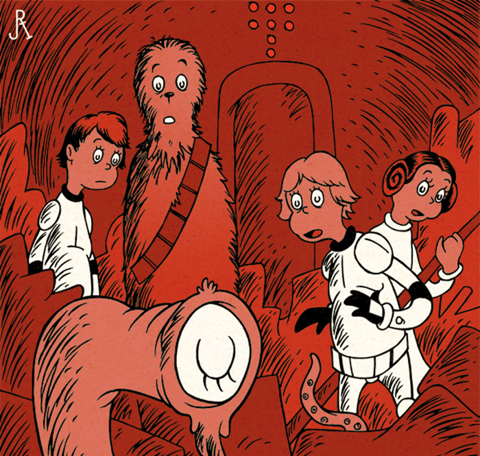 if Dr Seuss wrote Star Wars series in one book