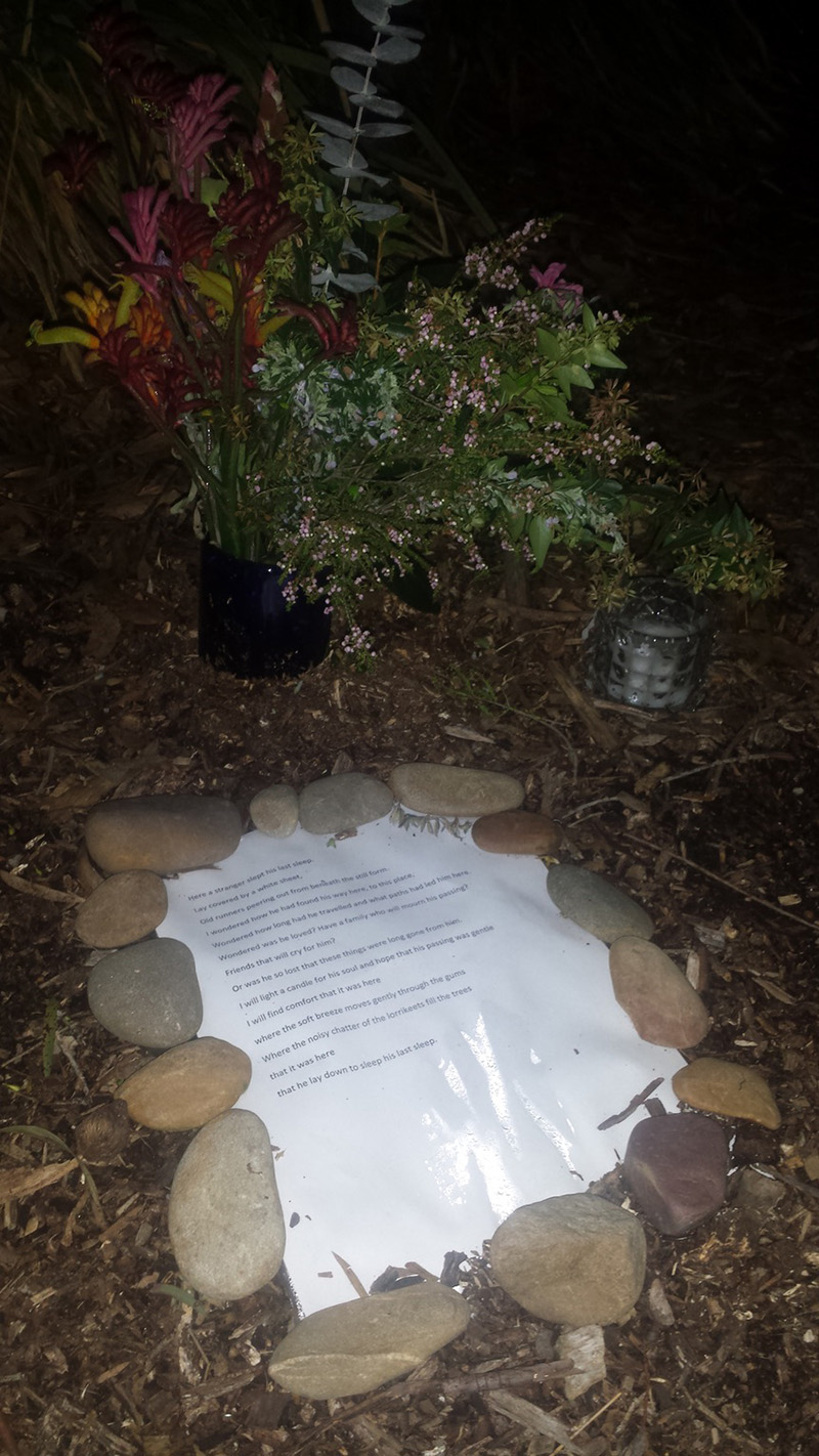 letter for homeless man grave