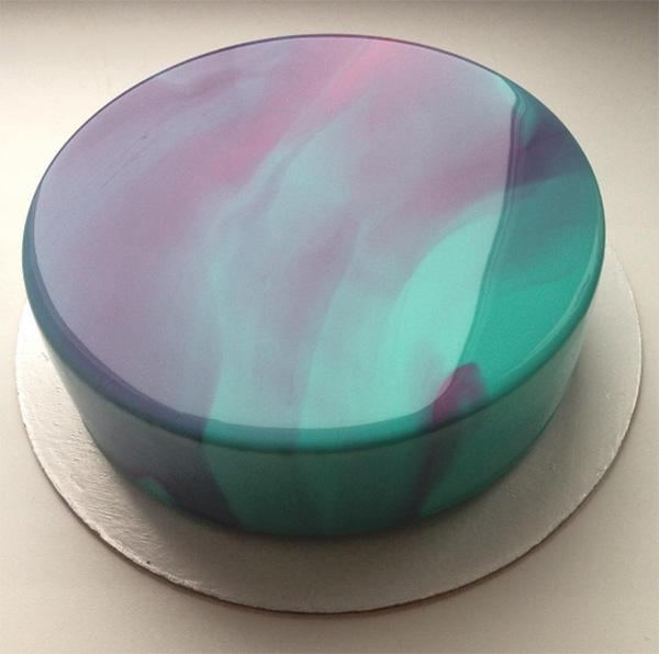 how to make a glossy cake
