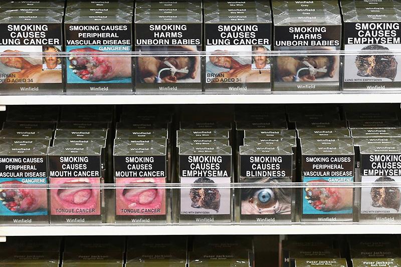 cigarette packs in Australia