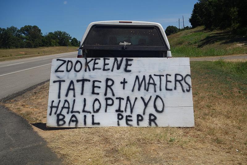 funny produce roadside signs