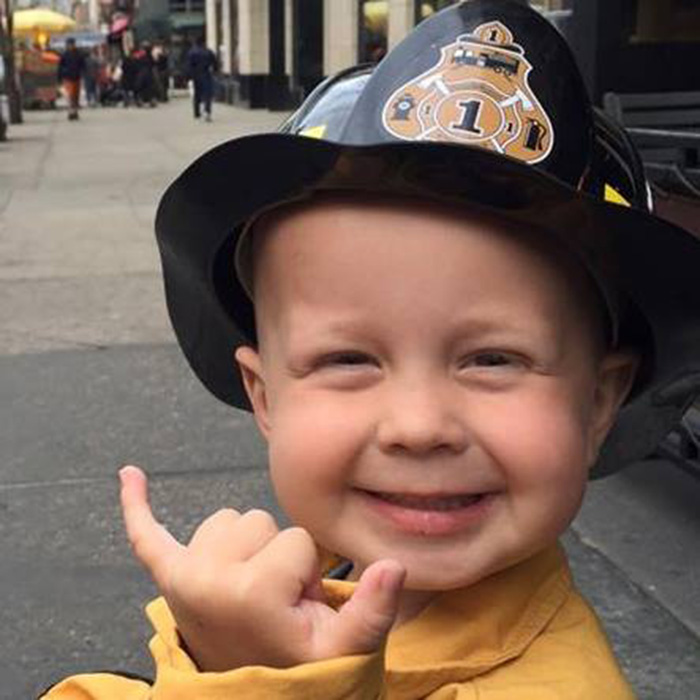 boy with cancer firefighter good news