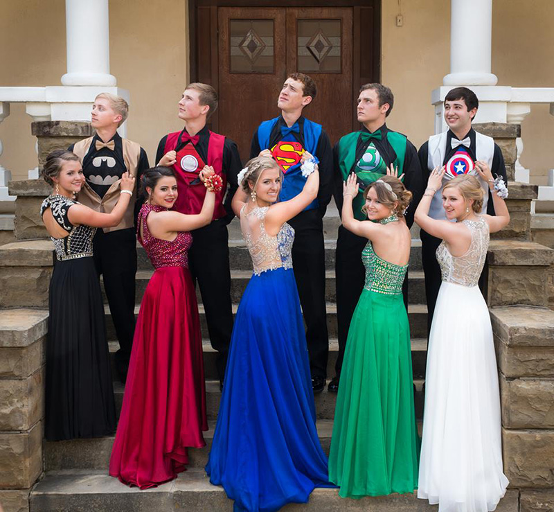 prom matching superheroes