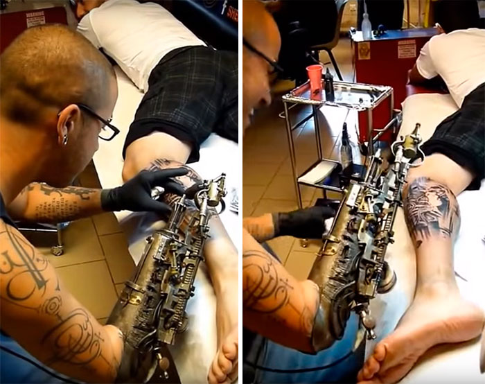 arm tattoo gun