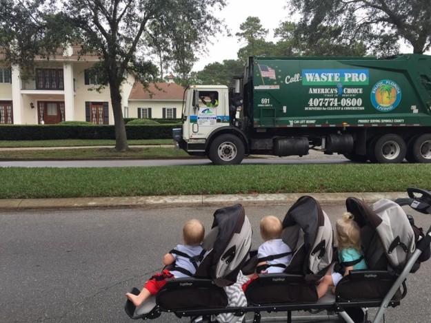 triplets friends with trash men