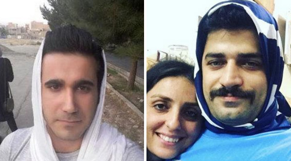 Men in Iran are wearing hijabs to protest against the country's strict female modesty codes