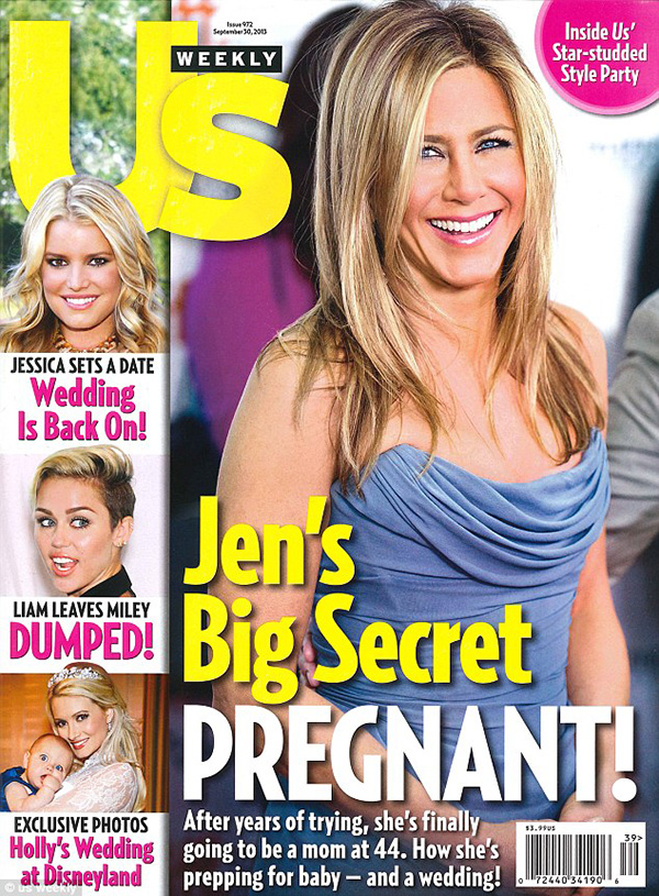 jennifer aniston not pregnant