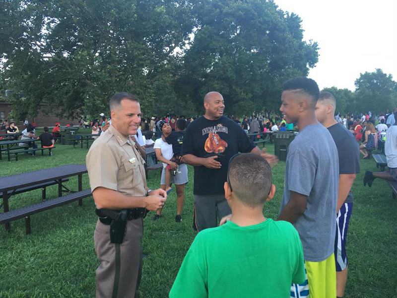 black lives matter cookout with cops