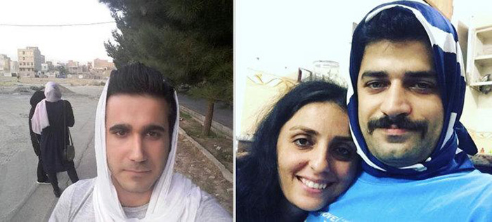 Men In Iran Are Sharing Photos Wearing Hijabs To Support Women Who Are Forced To Cover Their Hair  6vskp-men-hijabs-1