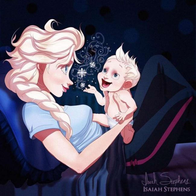 disney princesses pregnant artist