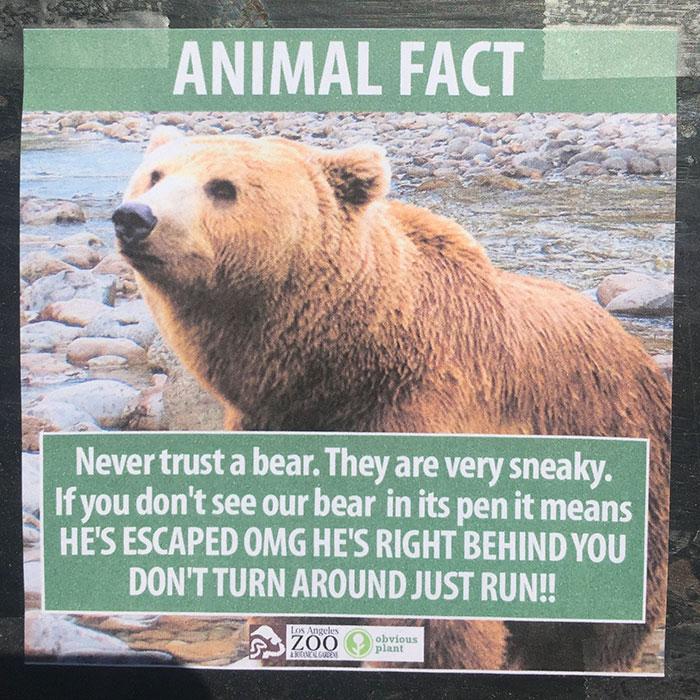 funny fake animal fact signs at zoo