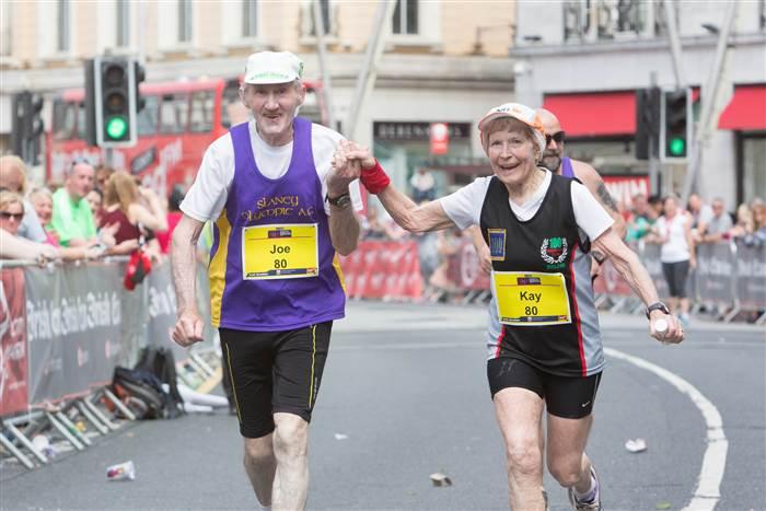 80 year old marathon couple